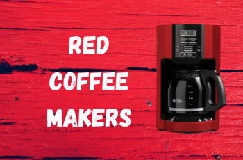 Charming Red Coffee Makers that Make Your Kitchen Pop